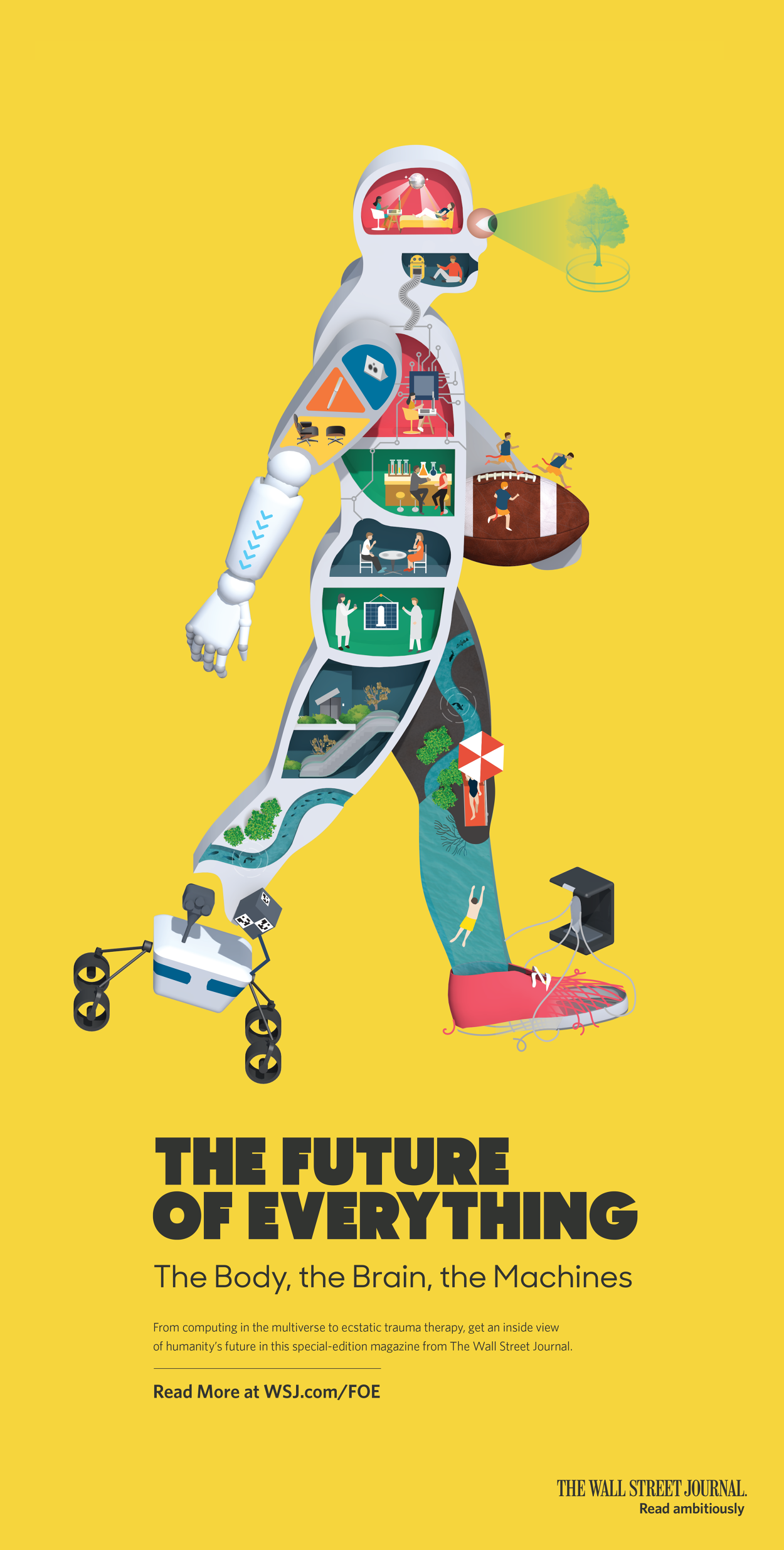 Future of Everything for Wall Street Journal - Jing Zhang illustration